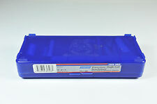 New Norton Waterstone, 1000 grit, 1in x 3in x 8in in Blue Plastic Hinged Box,