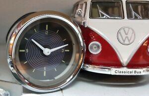 VDO Smiths Analogue Time Clock VW T2 Split 1967 12v Dash Panel Gauge & LED bulb