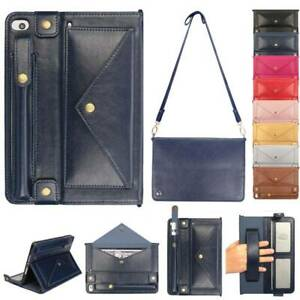 For iPad Mini Air Pro Messenger Shoulder Bag Sleeve Pouch Case Smart Stand Cover