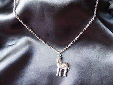Cavallo/Zebra Collana, idea regalo, vintage, color argento MODA/COSTUME, Ciondolo