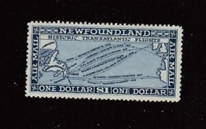 NEWFOUNDLAND nn667 1# C11 VF-MLH  HISTORIC TRANSATLANTIC FLIGHTS-CAT VALUE $130