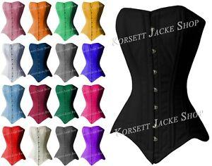 Full-Breast Cotton Korsett, For Taillentraining + Sexy Sanduhrfigur Size 36 - 54