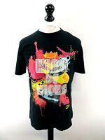 NIKE Mens T-Shirt Top M Medium Black Cotton