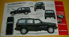 1998 Jeep Cherokee Limited 4.0 Inline 6 Cylinder 242 ci IMP Info/Spec/photo 15x9