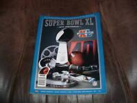 PITTSBURGH STEELERS SEATTLE SEAHAWKS SUPER BOWL XL 40 GAME PROGRAM 2/5/2006