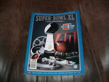 PITTSBURGH STEELERS SEATTLE SEAHAWKS SUPER BOWL XL 40 GAME PROGRAM 2/5/2006