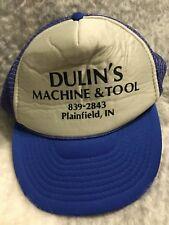 Retro Vintage Trucker Hat Dulin's Machine & Tool Plainfield, In Snapback Cap