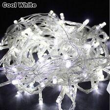 8 Mode 10M 100 LED Xmas Christmas Tree Fairy String Lights Party White UK PLUG