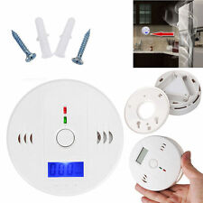 UK LCD CO Carbon Monoxide Poisoning Gas Warning Sensor Alarm Detector Secure CU