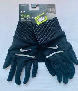 Nike Sphere Running Gloves Men's Large Black/Silver NEW