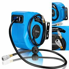 Automatic Hose Reel Compressed Air Pipe 10m 12 Bar Swing 180° Wall Mount Bt09