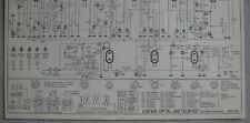 LOEWE OPTA Typ 9652 GW Meteor 52 mit Ratio Detektor Schaltplan, Stand 01/52