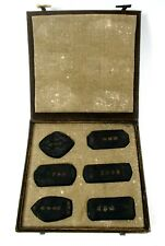 Antique set of 6 Chinese Ink Stones Blocks Writing on one side decoration other