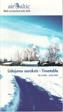 Air Baltic timetable 2001/10/28