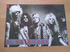 Vintage original Poster Guns 'n Roses 1980s Metal Rock Axl Rose Duff Slash