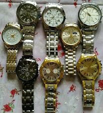 Special sale x8 QUARTS ORLANDO MENS BEZEL STRAP WATCHES BRAND NEW  To Re-sell!!