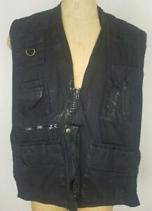 Rothco Outback Vest Used/Distressed Men's XL Black Hunting Tactical 100% Cotton