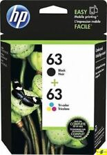 HP 63 Genuine Black & Color ink HP63 Combo Ink Cartridges New