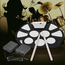Portable Electronic Roll up Drum Pad Kit Silicon Foldable with Stick Q6I4