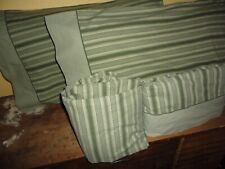 WALMART MAINSTAYS GREEN MODERN STRIPE (4PC) FULL SHEET SET COTTON BLEND