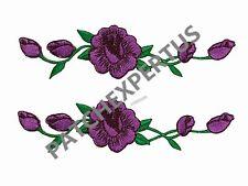 #3965L Lot 2 Pcs Lavender color ,Purple Rose Flower Embroidery Applique Patch