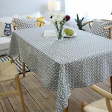 New Table Decorative Cotton Linen Tablecloth Rectangle Tablecloth Heat Resistant