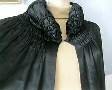Kapuze Vampir Cape Teufel Umhang 96936 Halloween 180 cm Gothic Kostüm schw m