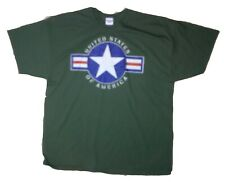 Army Star Distressed Military T-shirt Star Emblem Green Medium USA War Vietnam