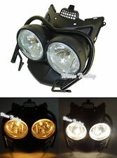 Front Bug Eye Dual Headlight Head Light Lamp + Guard Set For YAMAHA Zuma BWS 125