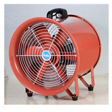 "Portable Industrial Ventilator Axial Blower Workshop Extractor Fan 16"" + Duct"