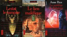 Lot 3 livres poche Anne Rice BE Pocket Terreur Fantastique Fantasay immaginaire