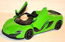 McLaren 650S Spider Roadster 2014-16 Green Green Metallic 1:24
