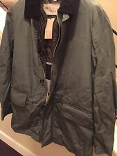 NWT  $995 Burberry Wax Canvas Barn Jacket With Leather Trim and Removable Vest