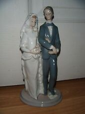 EXQUISITE RARE LLADRO FIGURINE ~ BRIDE & GROOM MAZEL TOV ~ JEWISH WEDDING ~ 6028