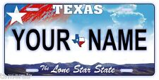 TEXAS VANITY LICENSE PLATE, PERSONALIZED,  Made in USA