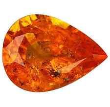 1.80 ct Natural Pear-cut Fanta-Orange SI Spessartite Garnet (Nigeria)