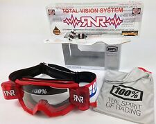 100% PERCENT STRATA MOTOCROSS MX GOGGLES RED with RIP N ROLL OFF RNR TVS SYSTEM