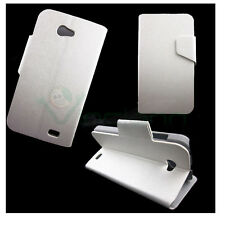 Case leather FLIP FLAP cover STAND White for NGM WeMove Wilco