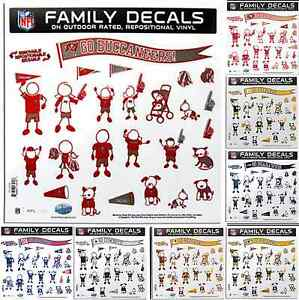 NFL Football Family Decals Large 11 x 11 Set - Automotive Car - Pick Your Team!