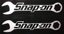 """Snap On Wrenches HQ Vinyl Sticker Decals! Black on Silver Met! 6""""x1.2"""" / 2! em"""