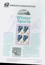 #3180 32c Alpine Skiing  USPS #532 Commemorative Panel