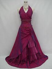 Cherlone Übergröße Lila Lange Ballkleid Hochzeitskleid Brautjungfer Kleid 50