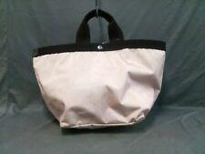 Auth Herve Chapelier PinkBeige DarkBrown Nylon &  Canvas Tote Bag