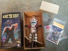 "10"" Silver Robby The Robot Wind Up Osaka Tin Toy Japan ~ NEW MIB ~ #367S LMTD ED"