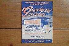 1965 Derby Lane St. Petersburg Florida Greyhound Racing Official Program