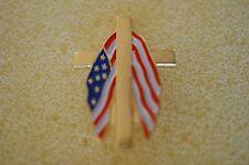 US USA Patriotic Cross Flag Patriotic Hat Lapel Pin