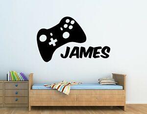 Personalised Xbox Controller Gamer Wall Art Vinyl Sticker Childrens Bedroom