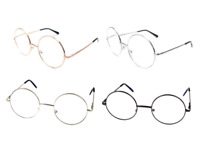 Reading Glasses Mens Round Italian Designer Readers MRSH Authentic Metal Frames