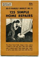 1954 Popular Mechanics - Do-It-Yourself Booklet No. 13 - 125 Simple Home Repairs