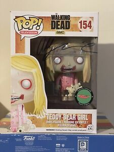 Teddy Bear Girl Funko Pop Signed By Addy Miller Walking Dead Autograph Authentic